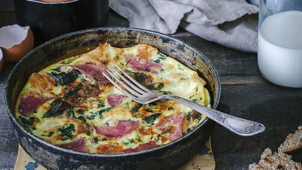 Weight loss bacon and spinach omelette by Susie Burrell