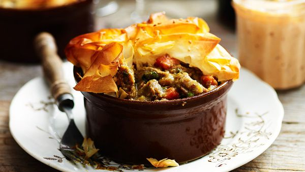 Moroccan-style lamb pies