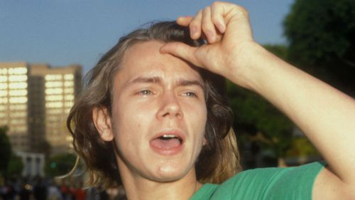 River Phoenix during 'Batman' Los Angeles Premiere in 1989. He was dead four years later. (Getty Images)