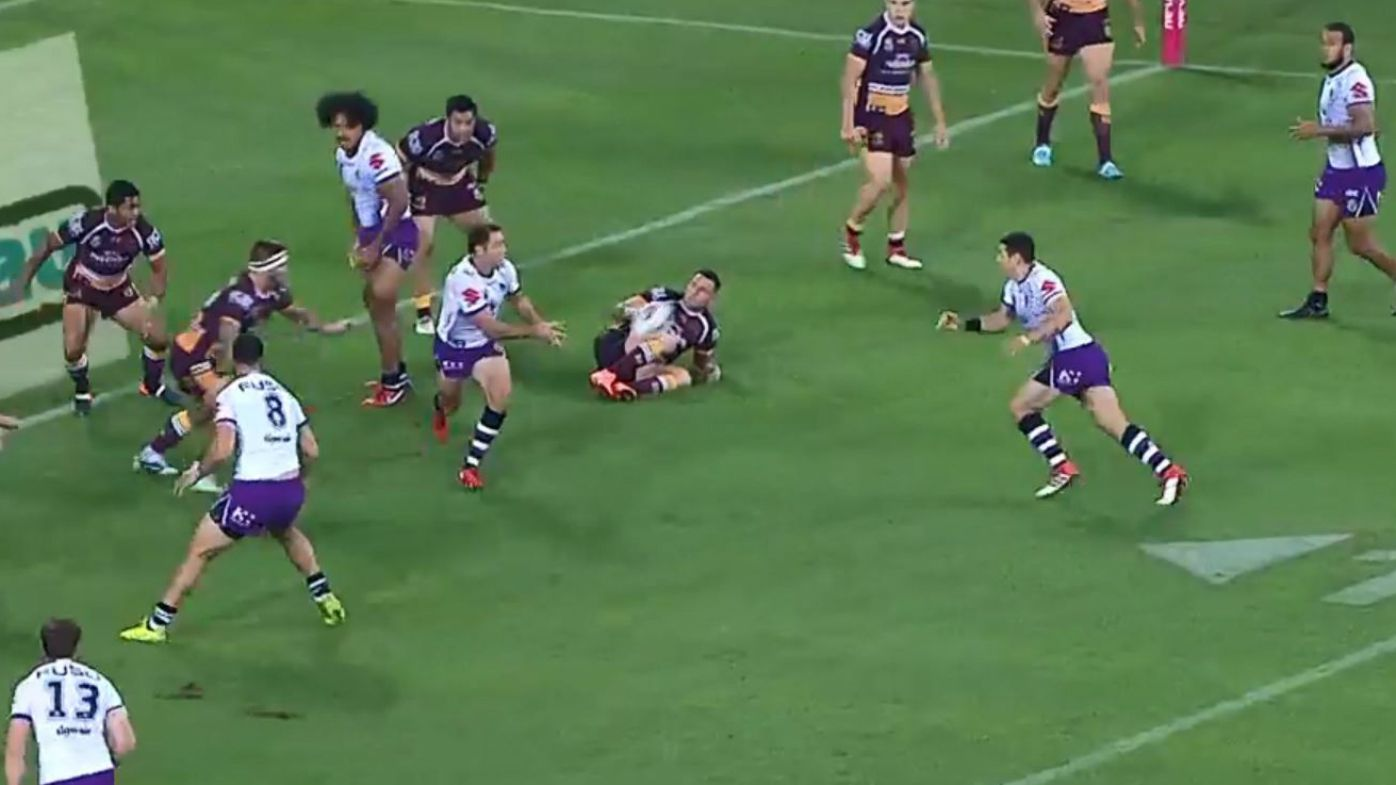 Controversial Billy Slater try has Nine's NRL experts up in arms