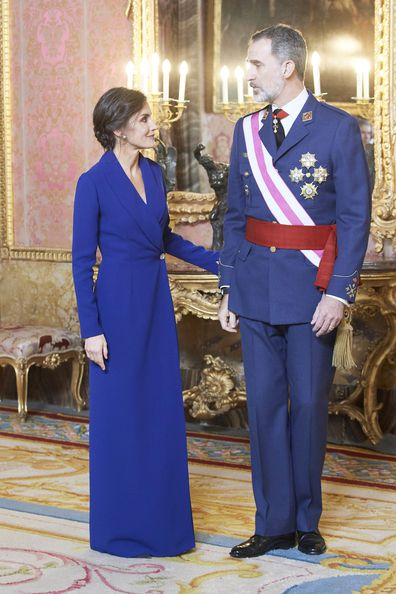 Queen Letizia and King Felipe mark Epiphany Day parade in Spain