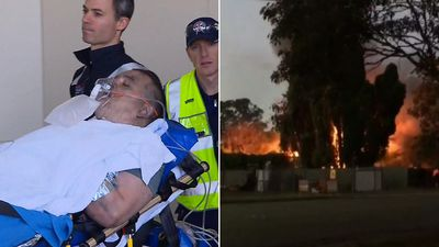 'Help! Help!': Neighbours' dramatic rescue as home engulfed in flames