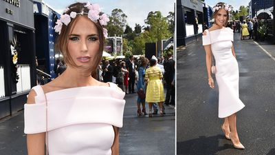 Actress and model Jodi Anasta in  the Birdcage. (AAP)