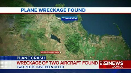 Searchers found wreckage of two ultralight planes around the Donnington Air Park in Queensland's north. (9NEWS)