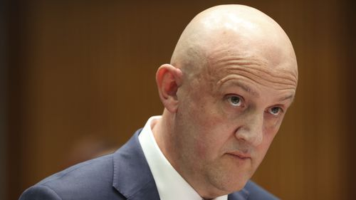 ASIO Director-General of Security Mike Burgess during a Senate estimates hearing at Parliament House in March.