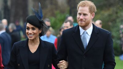 Prince Harry and Meghan Markle attend church on Christmas Day, December 2018