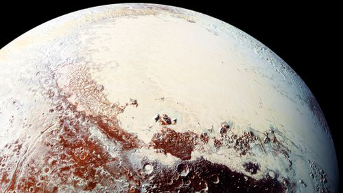 A photo released earlier of the surface of Pluto. (NASA)