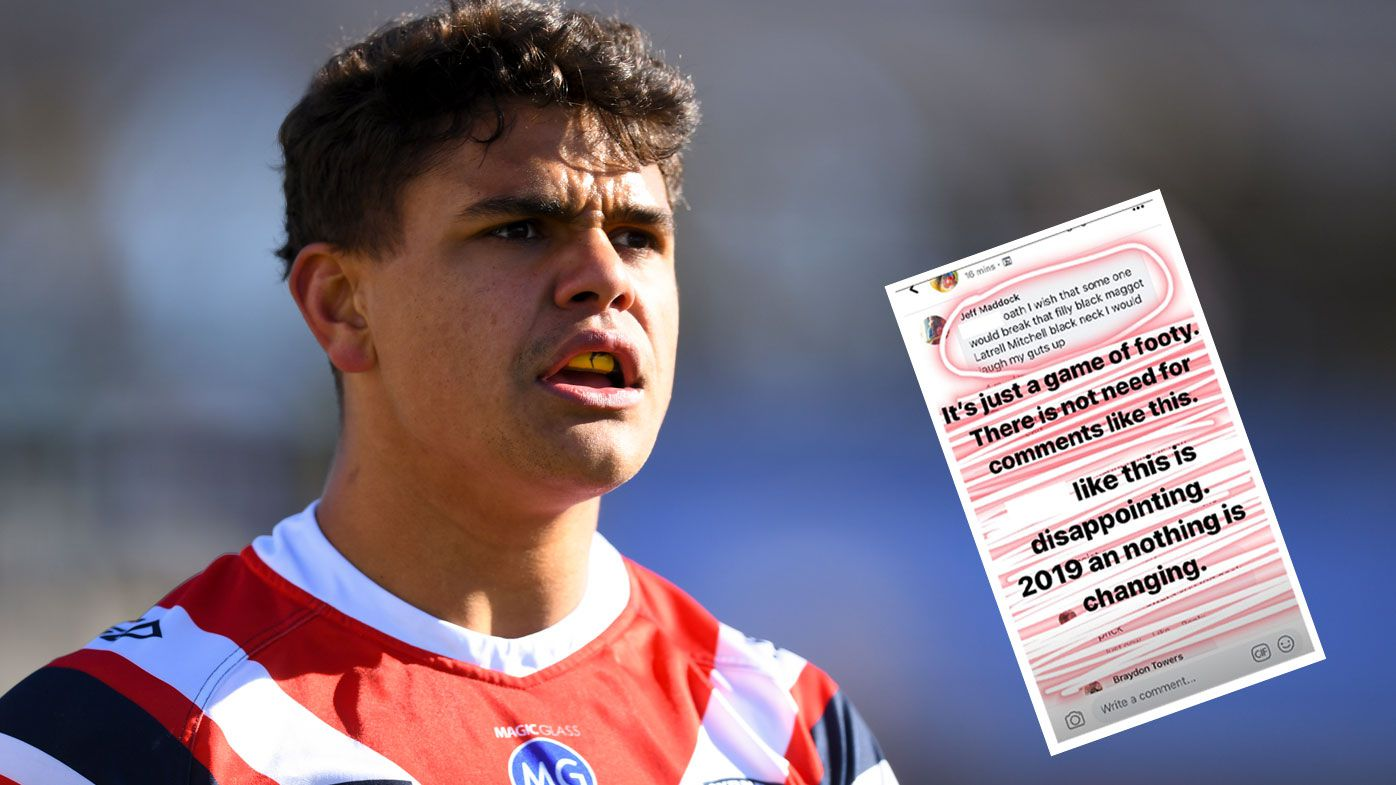 Latrell Mitchell calls out racist fan