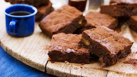 Dark chocolate, fig and muscat brownies