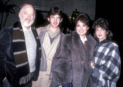 Linda Gray, husband Ed Thrasher, son Jeff Thrasher and daughter Kehly Thrasher in 1982.