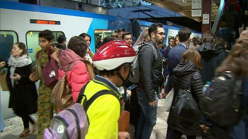 Metro Trains is investigating. (9NEWS)