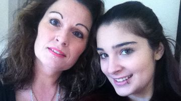 Cassidy Trevan, with her mother Linda.