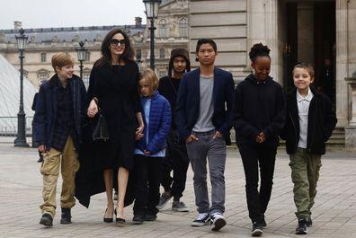 Angelina Jolie, Maddox Jolie-Pitt, Pax Jolie-Pitt, Zahara Jolie-Pitt, Shiloh Jolie-Pitt, Knox Jolie-Pitt and Vivienne Jolie-Pitt