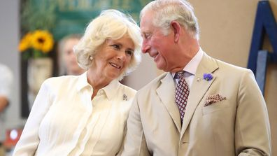 Prince Charles Camilla, Duchess of Cornwall look lovingly at each other during royal engagement