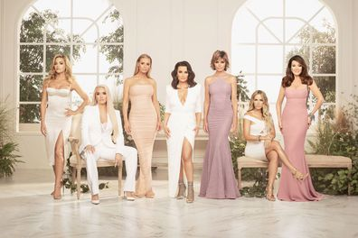 Denise Richards, Erika Jayne, Dorit Kemsley, Kyle Richards, Lisa Rinna, Teddi Mellencamp and Lisa Vanderpump in the Real Housewives of Beverly Hills