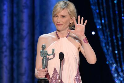 Cate Blanchett took a leaf out of the Lawrence playbook and went dirty AND quirky during her SAG Best Actress acceptance speech for <i>Blue Jasmine</i>.<br/><br/>Watch her lewd on-stage act on the next slide...