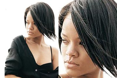 We've seen candid holiday of Rihanna, and she certainly doesn't look like this. It must have been a <i>very</i> good day for the singer when <i>People</i> took this bare-faced pic (Image: <i>People</i> magazine)