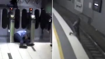 More than 600 commuters slipped, tripped or fell while using the rail network last financial year. (Queensland Rail)