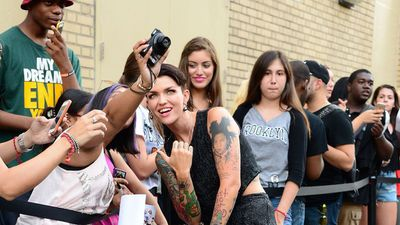 While Ruby Rose is a dead set Australian celeb, she's fast gaining fans and followers in the US. (Getty Images)