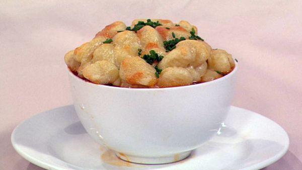 Cottage pie with potato gnocchi