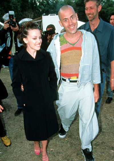 Kylie with director ex-boyfriend Stephane Sednaoui.