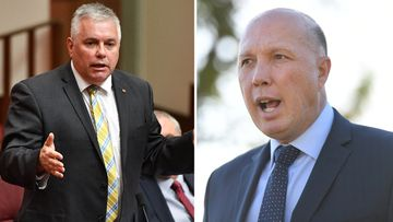 190612 Peter Dutton Rex Patrick stoush AFP ABC Raids News Australia SPLIT