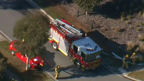 The bomb squad was called in following a drug raid. (9NEWS)