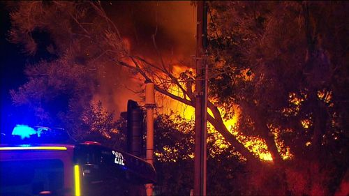 Neighbours were awoken by the inferno with firefighters battling to stop the flames from spreading to neighbouring houses.