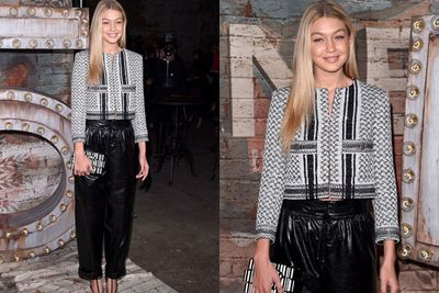 Despite loving almost EVERYTHING Gigi Hadid does, TheFIX aren't fans of her leatherette jogging pants.