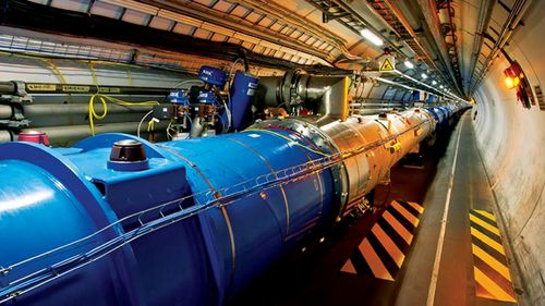 The LHC was officially unveiled in 2008 after years of construction. (CERN)