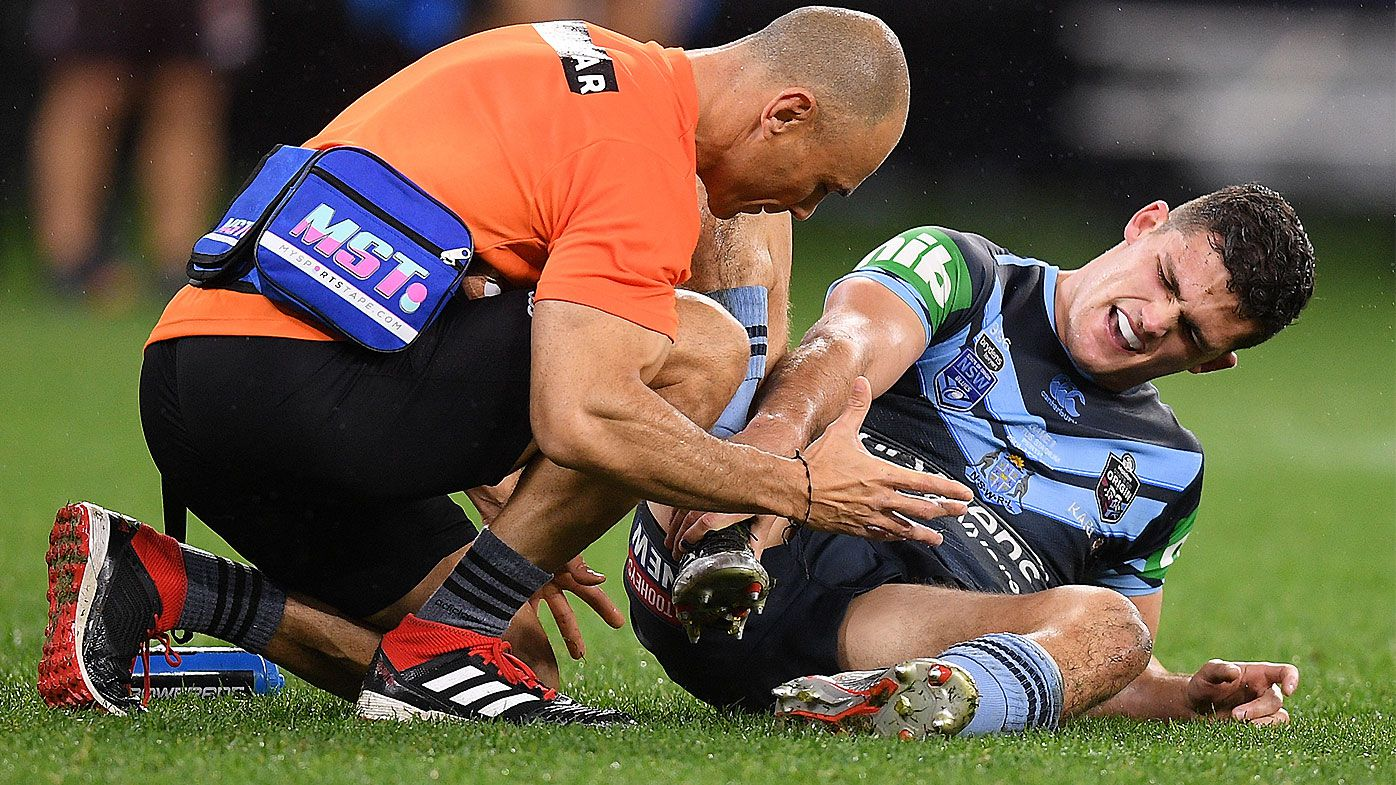 Nathan Cleary in doubt for Game 3 of State of Origin with ankle injury