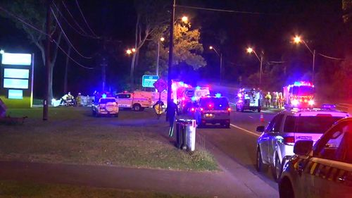 One woman died and three people were injured in the crash. (9NEWS)