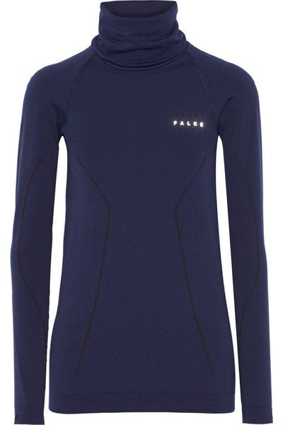 "<a href=""https://www.net-a-porter.com/au/en/product/589628/FALKE-Ergonomic-Sport-System/Stretch-jersey-turtleneck-top?cm_mmc=polyvoreAU-desktop-_-cpc-_-clothing-_-https://www.net-a-porter.com/au/en/product/589628/FALKE-Ergonomic-Sport-System/Stretch-jersey-turtleneck-top"" target=""_blank"">Falke top, $160, at Net-a-Porter.com</a>"