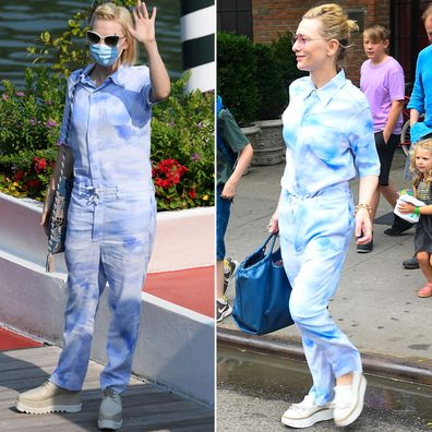 Cate Blanchett at the 2020 Venice Film Festival and in New York in 2019.