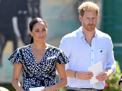 Prince Harry and Meghan Markle in Africa on the royal tour