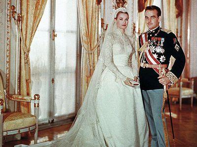 Prince Rainier III of Monaco and Grace Kelly, 1956