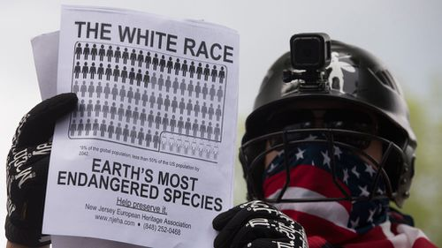 More than 1000 protesters are gathered in Freedom Plaza near the White House to rally against a white nationalist demonstration scheduled for later in the day.