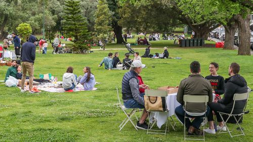 Melburnians enjoy the botanical gardens after a second wave of the coronavirus forced a second lockdown.