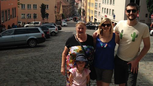 Leigh and his family in Germany.