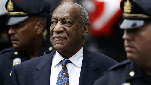 Bill Cosby arrives for his sentencing hearing at the Montgomery County Courthouse in Pennsylvania on Monday 24 September, 2018.