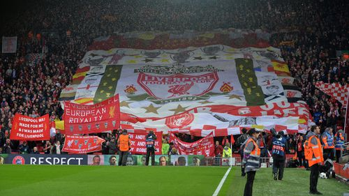 Liverpool later went on to soar to a 5-2 victory over Roma in the semi-final and the club said it will offer its full support to the victim and his family. Picture: AAP.