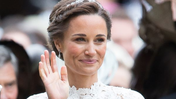 Pippa Middelton was a blushed and blushing bride on her wedding day. Image: Getty