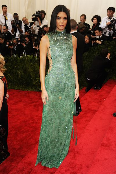 Kendall Jenner in Calvin Klein at the 2015 Met Gala.