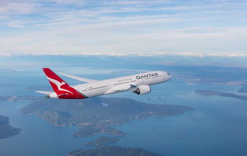 The Qantas flight from Los Angeles to Melbourne nosedived mid-air for 10 seconds after entering a wind vortex created by another plane. Picture: Supplied.