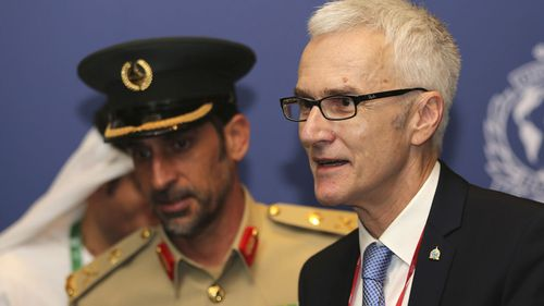 Police chiefs from around the world gathered in Dubai on Sunday for Interpol's general assembly