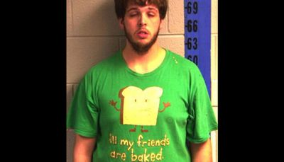 Police in Kentucky released the mugshot of this man who was pulled over and arrested for marijuana trafficking.
