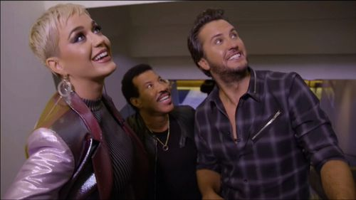 Lionel Richie (centre) is currently a mentor on American Idol.