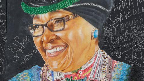 South African mourners have farewelled anti-apartheid activist Winnie Madikizela-Mandela. (EPA/AAP)
