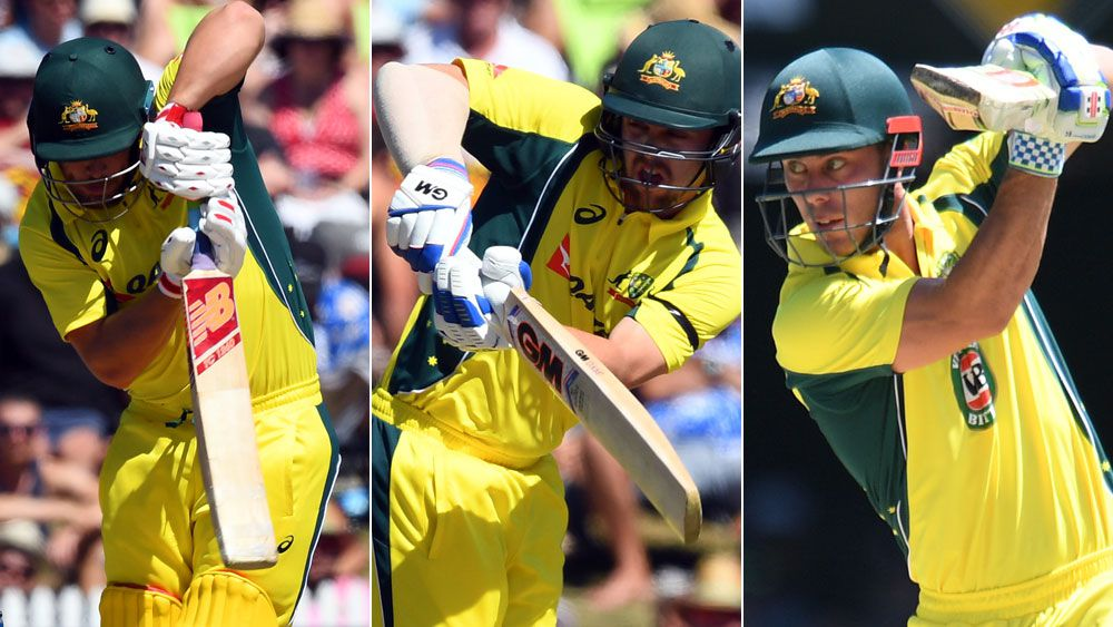 Aaron Finch, Travis Head and Chris Lynn are in conention to partner David Warner as openers in the Champions Trophy. (AAP)