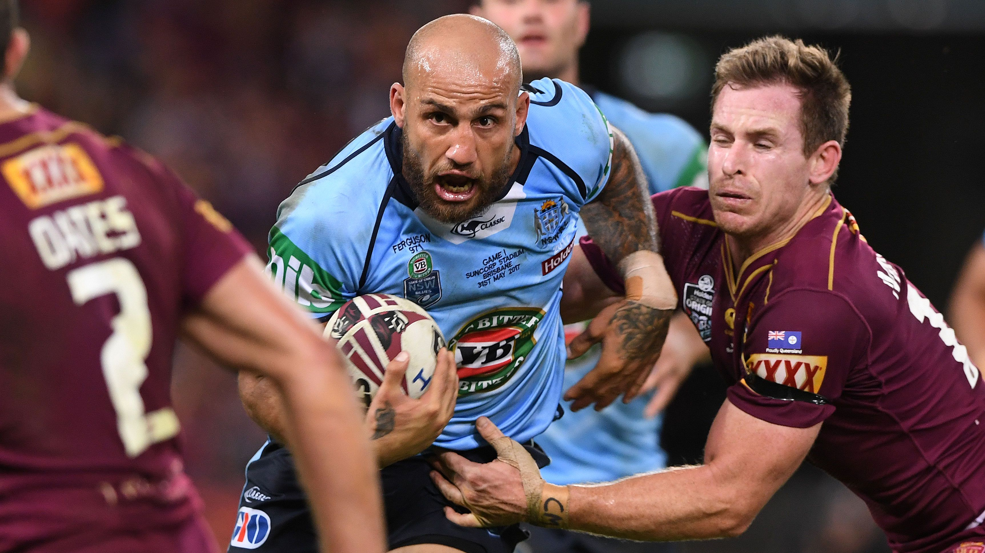 Blake Ferguson playing State of Origin.